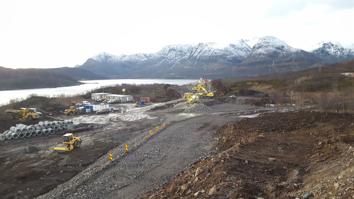 Utbygging av langbakken Foto Skjervøy kommune