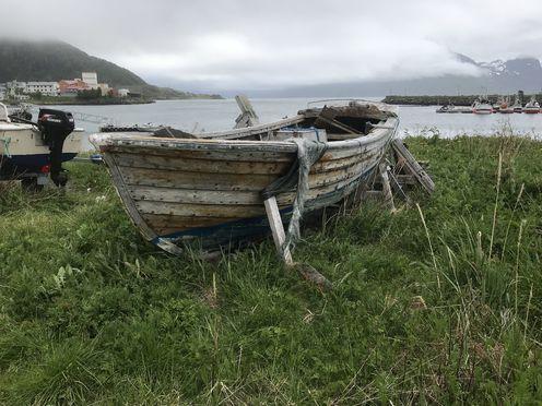 Båt ved moloen