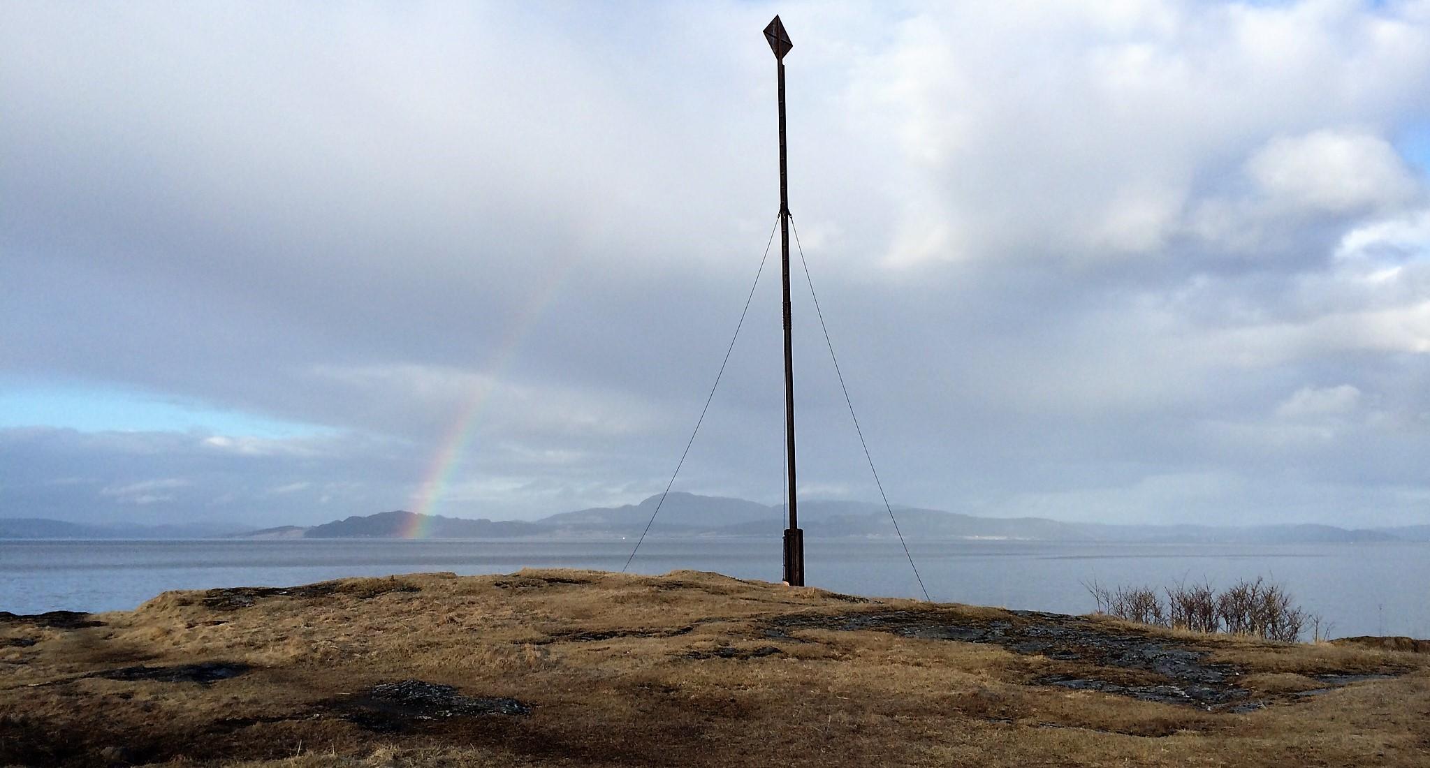 Bilde fra Vikhammerløkka ut mot sjøen