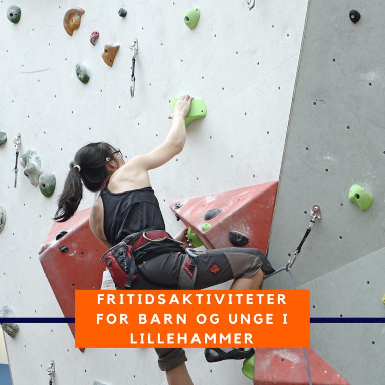 Bilde av en klatrende ungdom - eksempel på fritidstilbud i Lillehammer