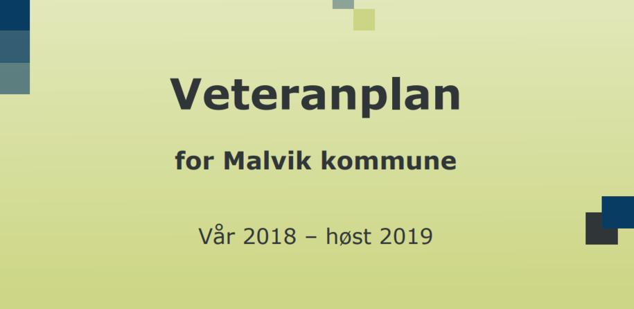 Forsidebilde av Malvik kommunes veteranplan