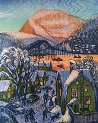 Uts vinterdag i Tromsø rød