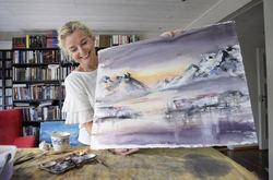 Portrett Kari og Akvarell