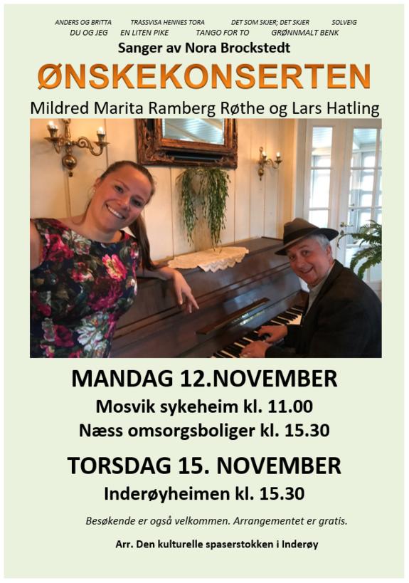Ønskekonserten med melodier av Nora Brochstedt