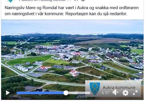 Facebookinnlegg om Aukra kommune