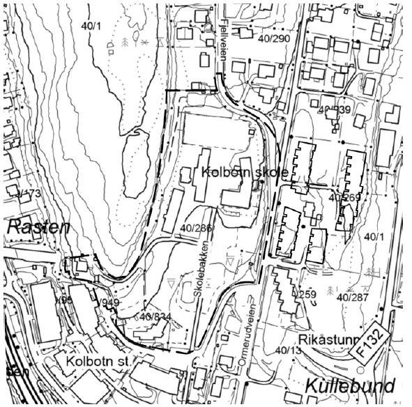 Planavgrensning detaljregulering Kolbotn skole november 2018.jpg