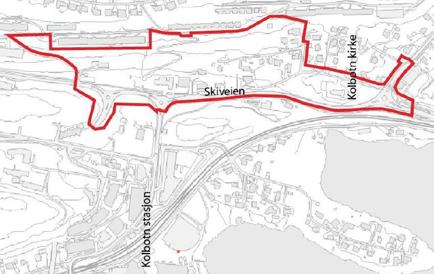 Skrenten - Skiveien kart vedtak