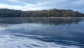Stavsjøen islagt