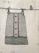 kjole på klessnor (Etsning)