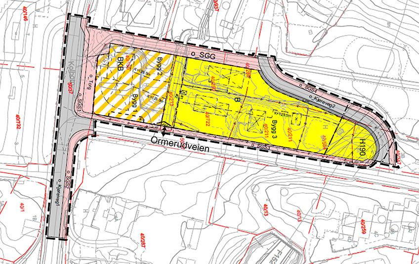 Plankart for detaljregulering av Skolebakken