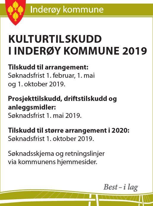 Kulturtilskudd 2019