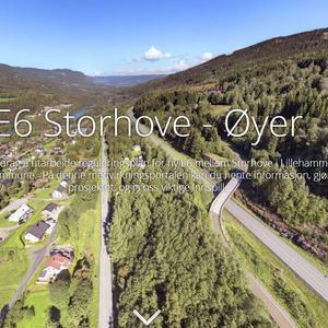 Oversiktsbilde fra Fåberg og nordover