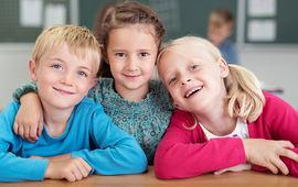 Barn i barneskolen. Foto: AdobeStock