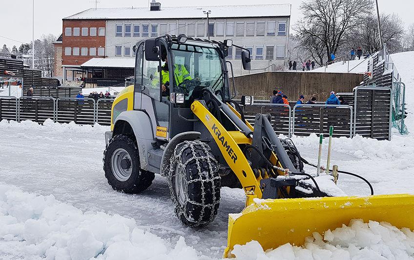 Park og idrett tester for tiden ut en elektrisk hjullaster