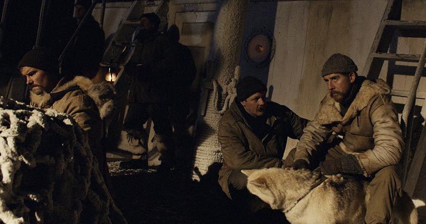 Filmen om Amundsen, viser scene fra ekspedisjonen