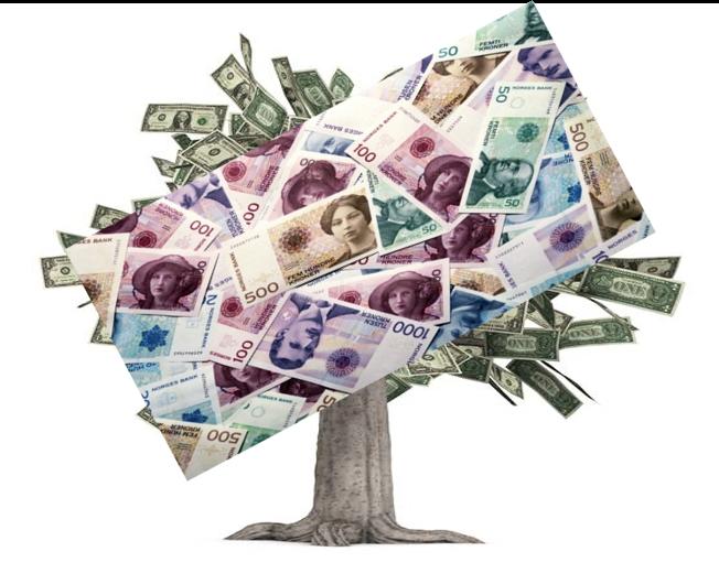 Bilde av et tre med penger