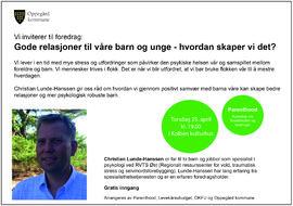 Foredrag april 2019 - Parenthood Levekårsutvalget OKFU Oppegård kommune