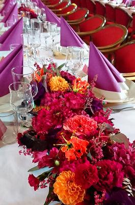 Blomster-borddekorering