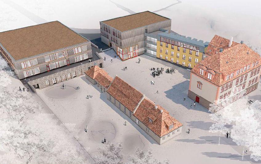 Tegning av nye Kolbotn skole fra planbeskrivelsen