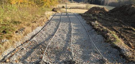Bildet viser et infiltrasjonsanlegg under bygging