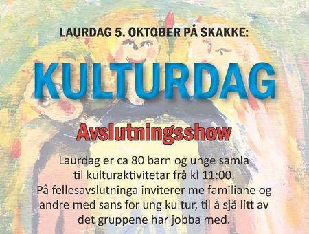 Plakat kulturdag_laurdag_clip