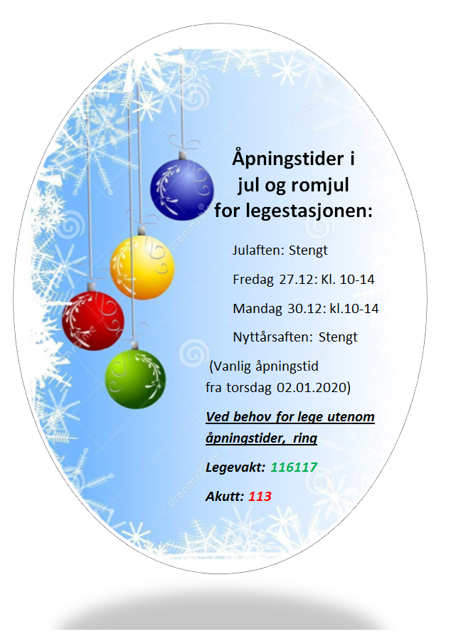 åpningstider jul 19