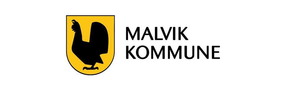 Malvik kommune - kommunevåpen - farge på hvit bakgrunn