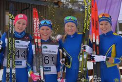 Ane K19-20 (4), Ragnhild(3), Alise(2) og Berit(1) K senior (Bilde1)