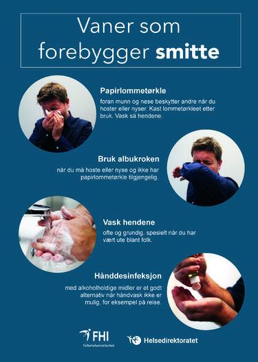 Informasjon om vaner som forebygger smitte