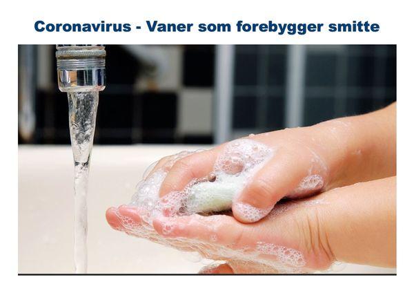 Coronavirus - vaner som forebygger smitte