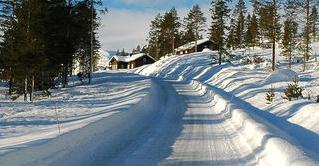 snø, vei, brokke