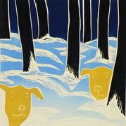 Hundelek i skogen gul