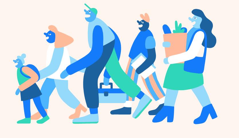 Illustrasjonsbilde av mennesker som hjelper hverandre