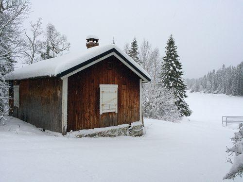 Pienehytta vinterstid