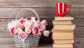Bilde av bøker på en bokhylle