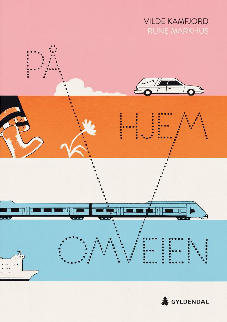På omveien hjem (Vilde Kamfjord, Gyldendal)_omslag