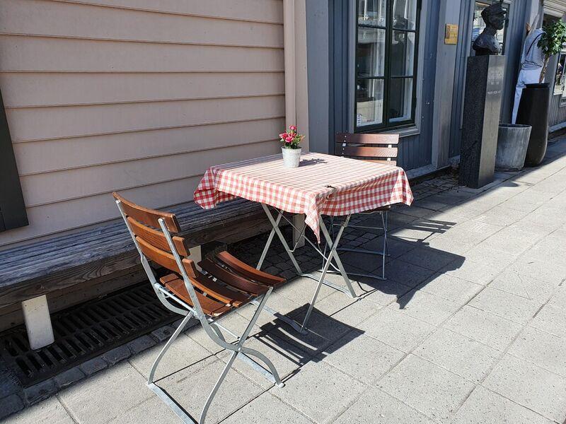 Utebord i Lillehammer Sentrum
