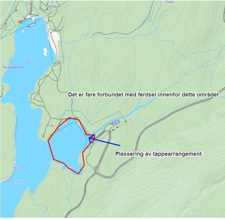 Kartutsnitt Stavsjøen