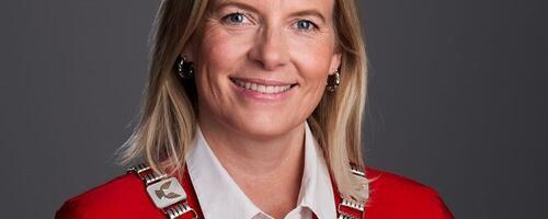 Portrett av ordfører Ingunn Trosholmen