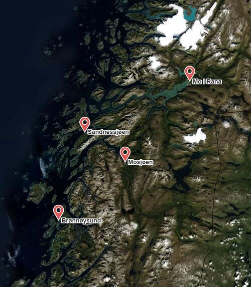 Kart over Helgeland