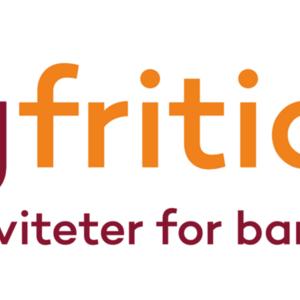 """Logo med teksten """"Ungfritid.no - Fritidaktiviteter for barn og unge"""""""