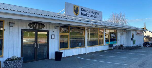 Bilde av inngangspartiet til Kongshaugen brukthandel