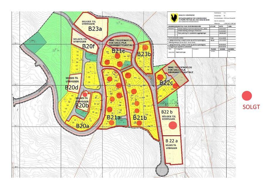 SKAL brukes Kart status tomtesalg Sveberg etappe 250620