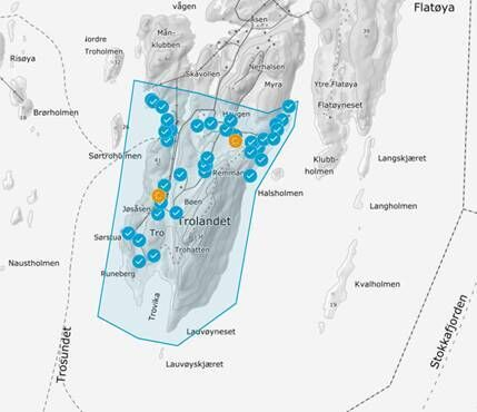 Kart over det aktuelle området.