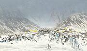 Brefront (gulehus langs fjellside)