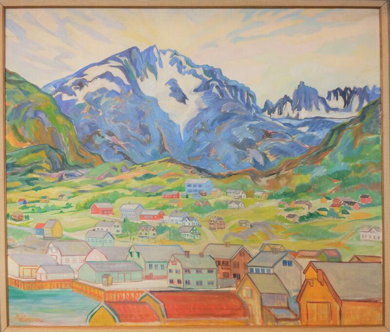 Skjervøy 1958 Maleri Magnus Sørensen