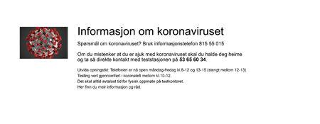 Informasjon om korona_sept
