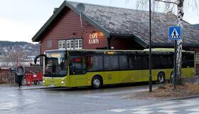 Illustrasjonsbilde av buss ved Hommelvik stasjon
