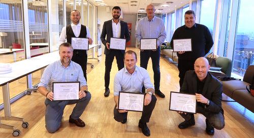 Her er noen av våre callcenterne som 27. oktober fikk utdelt de nye diplomene.