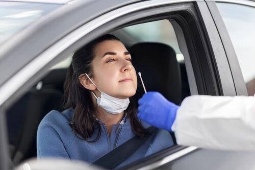 Koronatest fra bil